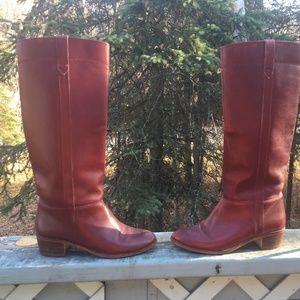 Vintage Nine West Louisa Oxblood Riding Boots